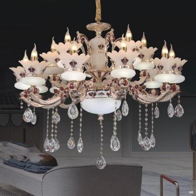 Đèn chùm pha lê nến mang phong cách hiện đại thân đèn bằng hợp kim chống rỉ kèm nhiều họa tiết và dây thả pha lê sang trọng cao cấp PLN8068/10+5