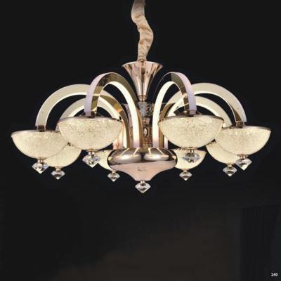 Đèn chùm pha lê led thân làm từ hợp kim cao cấp không rỉ và chao đèn bằng pha lê sang trọng hiện đại 9020-8