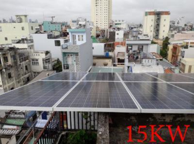 Lắp đặt hệ thống pin năng lượng mặt trời 15kw