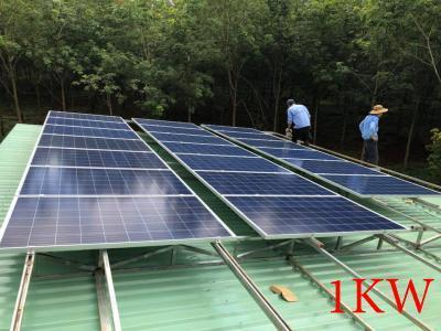 Lắp đặt hệ thống pin năng lượng mặt trời 1kw