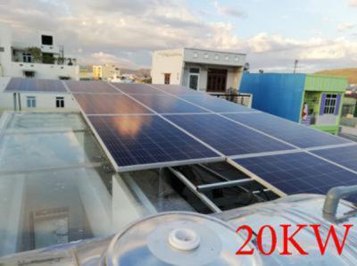 Lắp đặt hệ thống pin năng lượng mặt trời 20kw