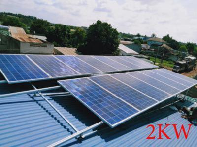 Lắp đặt hệ thống pin năng lượng mặt trời 2kw
