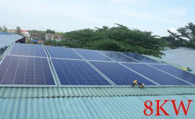 Lắp đặt hệ thống pin năng lượng mặt trời 8kw