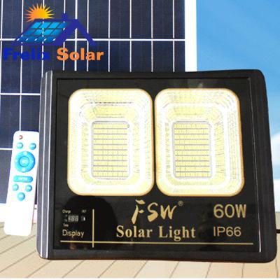 Đèn pha năng lượng mặt trời 2 ô led 60W