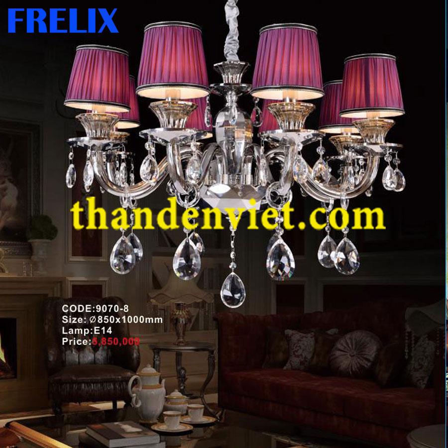 Đèn chùm pha trang trí phòng khách hiện đại 9070-8
