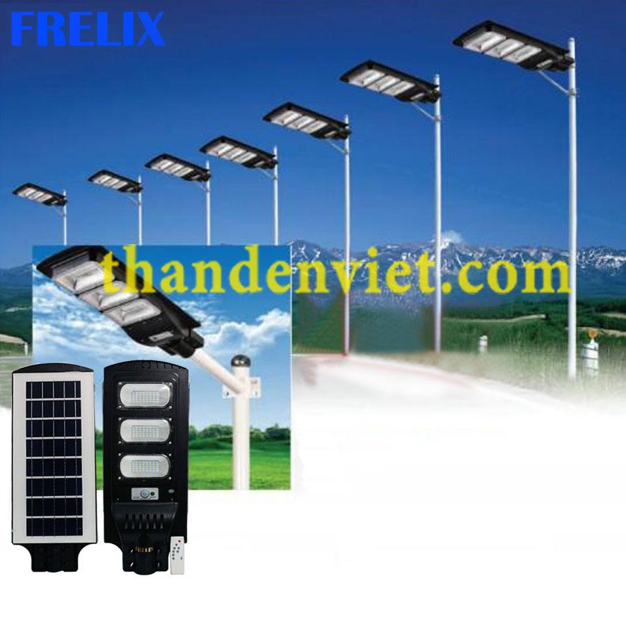 Đèn đường năng lượng mặt trời liền thể 120W giá sốc