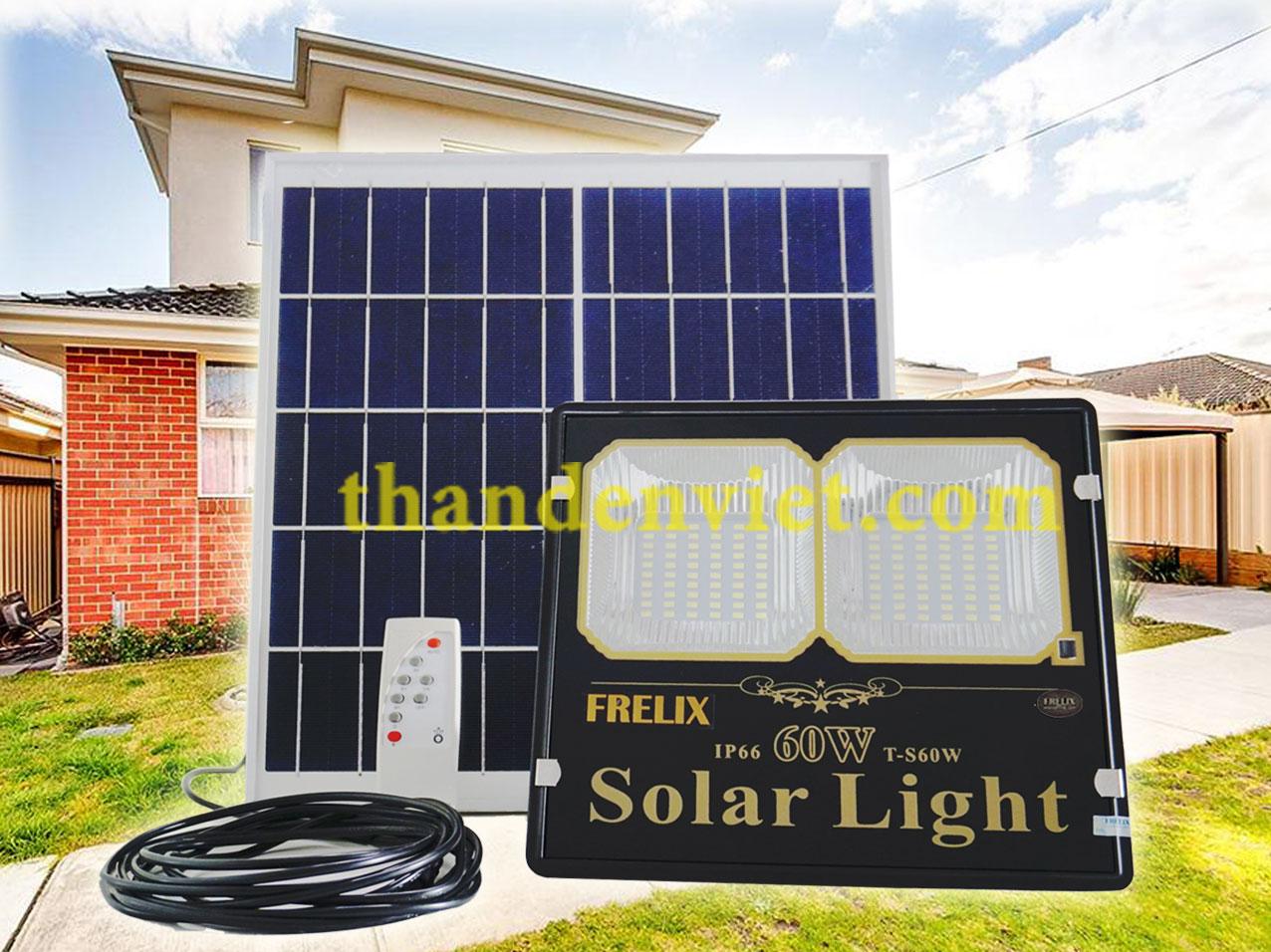 Đèn năng lượng mặt trời FRELIX Solar Light 60W 2 khoan led